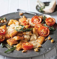 Nutmeg and pumpkin gnocchi with Gorgonzola cream