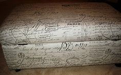 Storage ottoman recovered @ lauraandconnersteen blogspot