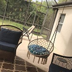 Amazon.com: Customer reviews: Outdoor Cotton Rope Patio Garden Hammock Chair Swing Max Weight: 260 Pounds Good for Lounging and Relaxation