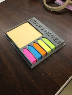 3D Printed Sticky Note Holder #Office #3Dprinting