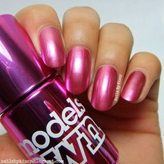 Nails By Kizzy: Models Own Colour Chrome Collection - Cerise