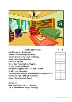 Richtig oder falsch? - Deutsch Daf Arbeitsblatter German English, Book Qoutes, German Language Learning, Learn German, Home Schooling, Vocabulary, Activities For Kids, Homeschool, Germany