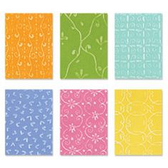 Sizzix embossing plates