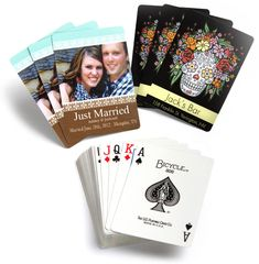 Custom Playing Cards, Personalized Deck of Cards for Poker to give away at the reception!