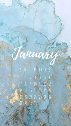 January 2018 Phone Wallpaper, January 2018 Calendar Screensaver, January Calendar Wallpaper, Marble Wallpaper, Marbled Background