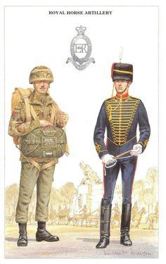 Postcard the British Army series royal horse artillery by geoff white British Army Uniform, British Uniforms, British Soldier, Native American History, American Civil War, Military Art, Military History, Military Costumes, Military Uniforms