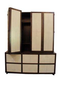 Buy Parchment & Walnut Cabinet - Cabinets - Storage - Furniture - Dering Hall