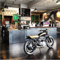 The Biker Bar Reimagined, Espresso Included : Remodelista