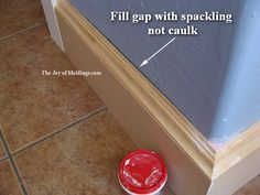 baseboard rounded corners | ... putty knife has square corners so you get nice edges against the wall