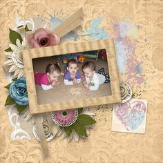 The Gifts of Love Collection is full of beauty, with flowers, foliage and ribbons. The color palette is lovely with blues & soft tans and accents of mauve & green. This digital scrapbooking collection allows for scrapping year round with its colors and versatile elements.