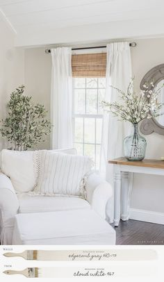 Whether you're looking for elegant draperies, covered valances, or a simple swath of fabric, we have window treatment ideas that will complement every room in the house. #windowcoverings #coverings