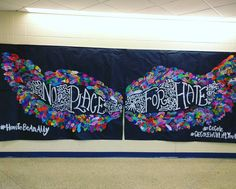 Art show sneak peak! Our version of @kelseymontagueart wings.  As a No Place for Hate project each student designed a feather that expressed how they could be an ally against bullying in our school.  Thanks for inspiring art teachers everywhere Kelsey and @cassie_stephenz. #whatliftsyou #cecolewillliftyouup #cecole #howtobeanally #npfh #noplaceforhate #artshow #artteacherlife #artteachersofinstagram #artteacher