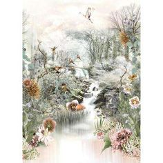 Forest inspired mural wallpaper in fine pastels illustration. Non-woven wall mural in standard sizes or custom made mural to your wall measurements. The Enchanted Forest Mural Wallpaper adds a magical touch of nature inspired wall art. Normal Wallpaper, Plant Wallpaper, Wall Wallpaper, Wallpaper Ideas, Poster Xxl, Forest Mural, Wallpaper Warehouse, World 7