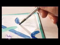 Cómo decorar azulejos con esmalte acrílico