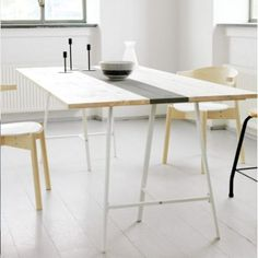 Home-Dzine - Easy DIY tables with trestle legs