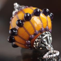 Marrakesch SRA Lampwork Beads Focal Pendant by Glassbonbon on Etsy, $37.00