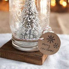 DIY anthropologie mason jar snow globes. They make for a lovely, yet inexpensive gift.