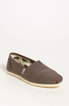 TOMS 'Classic' Canvas Slip-On (Women) | Nordstrom #Nordstrom #Store #Zumiez #Classic #TOMS #Canvas #Women #Grey #Gray #Cute #SlipOns #BuyOneGiveOne #Cause #Toms #Shoes #Different #Simple #Want