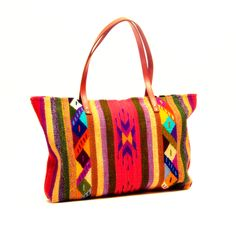 Lana Bag - Wool Oaxaca Bag Handmade with Leather Straps.  $179 only at www.wayuutribe.com