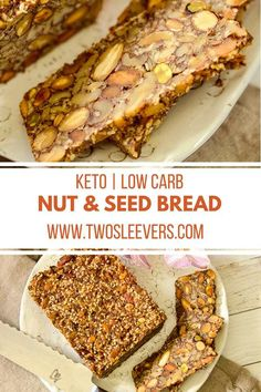It's hard to believe how delicious this stupid simple recipe for a Keto Nut and Seed Bread turns out! It's gluten free, low carb and SO GOOD! Keto Bread Coconut Flour, Keto Flour, Keto Banana Bread, Almond Flour Recipes, Sugar Bread, Almond Meal, Coconut Oil, Easy Keto Bread Recipe, Best Keto Bread