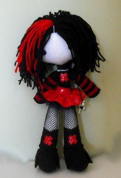 This is my baby Neko. her body is stuffed with wheat, so she is flopsie xox Neko Zombie Dolls, Creepy Dolls, Ugly Dolls, Kawaii Plush, Cute Plush, Kawaii Crochet, Crochet Toys, Creepy Stuffed Animals, Chica Punk