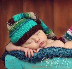 ORIGINAL DESIGNER Baby Hats, Newborn Hats, Baby Boy Hats, Baby Girl Hats, Newborn Baby Hat, Knit Newborn Hat, Stripe Baby Hat. $28.00, via Etsy.
