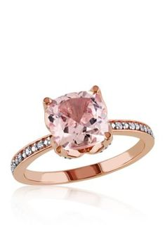 Belk  Co.  Morganite and Diamond Accent Ring in 10k Rose Gold