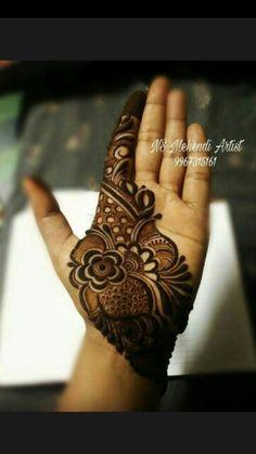 "Photo from NS Mehendi Artist ""Portfolio"" album Khafif Mehndi Design, Indian Mehndi Designs, Henna Art Designs, Mehndi Designs For Girls, Mehndi Designs For Beginners, Modern Mehndi Designs, Mehndi Design Pictures, Wedding Mehndi Designs, Mehndi Designs For Fingers"