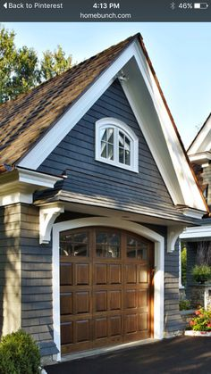 Paint color with garage color House Front Design, Garage Design, Exterior Design, Exterior Colors, Garage Remodel, Exterior Remodel, Garage Door Lights, Garage Doors, Carriage House Garage