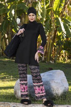 Exquisite Burkini Islamic Swimwear, Swimsuits, Elegant, Stylish, Lady, Clothes, Women, Fashion, Comfortable Outfits