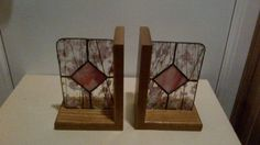 Pink Stained Glass Bookends | art, collectibles | Chatham-Kent | Kijiji