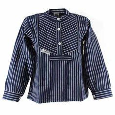 Fishermen® Online-Shop - Fischerhemd Finkenwerder, breit gestreift