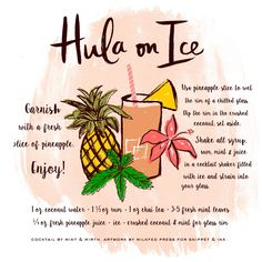 We're taking things tropical with the first Signature Cocktail of the year — Hula on Ice! Made with pineapple juice, rum and crushed coconut, this beachy drink has us dreaming of white sandy beaches and sunshine!