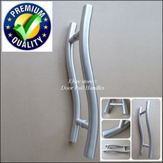 Set of long door curved push pull handles modern entryway design entry door pull push handle 316 stainless steel marine grade front glass shower provence planetlyrics Image collections