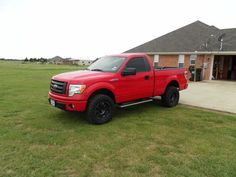 2014 Ford F150 STX Regular Cab 4X4. We added a leveling