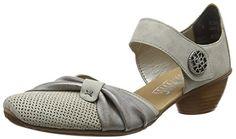 Rieker 43721-41, Women's  Ankle Strap Pumps, Grey (Grey)…