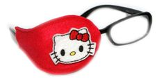 Kids and Adults Orthoptic Eye Patch For Amblyopia Lazy Eye Occlusion Therapy Treatment Kitty Red Design by iPatching on Etsy https://www.etsy.com/listing/216140325/kids-and-adults-orthoptic-eye-patch-for