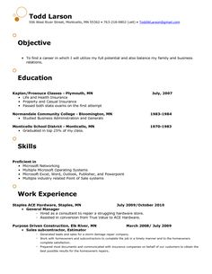great objectives for resumes samples resume template pinterest