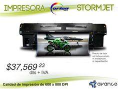 ¡Equipo de impresión en gran formato, ofrece una alta velocidad y es ideal para altas producciones!