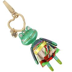 Betsey Johnson Frog Key Fob (9.355 HUF) ❤ liked on Polyvore featuring accessories, green, leather key chain, betsey johnson and fob key chain