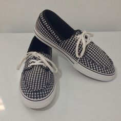 Vans Shoes Fashionable Vans Black/ White Checker Shoes!  Women's size 8 1/2 Preloved ! Gently worn only one time! Vans Shoes