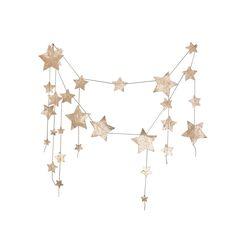 molly meg gold glitter falling star garland by numero 74