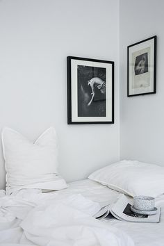 Black and white art on the bedroom wall   Fantastic Frank