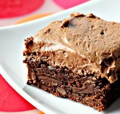 Chocolate fudge brownies with BEST EVER chocolate buttercream frosting