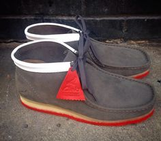 "ed2b21935 Staple x Clarks Originals Fall 2014 Wallabee ""Pigeon"" Clark Wallabees, Men  Sneakers,"