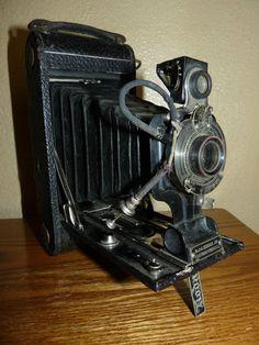 Antique Eastman Kodak Jr. No 1-A Folding Camera Patent Dates 1910 and 1913 - SOLD