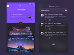 TOSS UP app redesign designed by Prakhar Neel Sharma. Connect with them on Dribbble; the global community for designers and creative professionals. Mobile App Ui, Mobile App Design, Pad App, Motion App, Ios Ui, Let's Create, Screen Design, Ui Inspiration, Group Activities