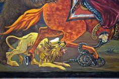 Аллегория  Алексея  Столбова   - Fra Евгений. Шел класс против класса. Земля полыхала, И Родина кровью в те дни истекала. Сжимали враги нас зловещим кольцом - Железом и сталью, огнем и свинцом.