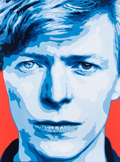 """Jeremy Penn's portrait of David Bowie, titled """"Chameleon,"""" will be one of several works on display at L'Ermitage Beverly Hills through August."""
