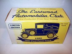 EASTWOOD COMPANY 1931 FORD A PANEL TRUCK BANK